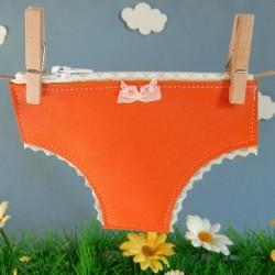 Porte monnaie petite culotte orange