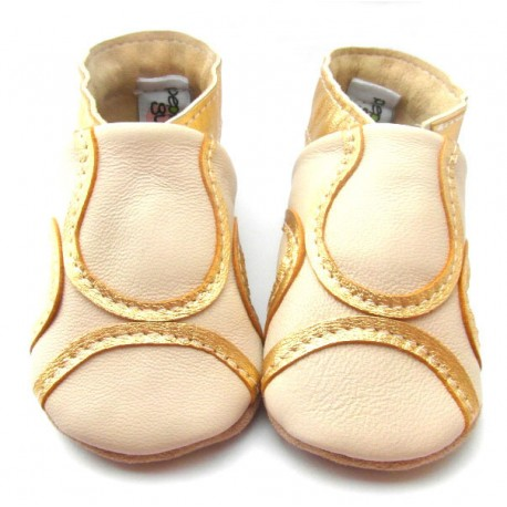Chaussons cuir souple Mariage