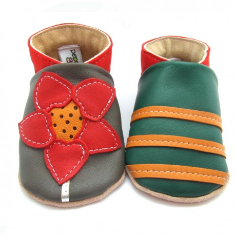 Chaussons cuir souple Tithonia
